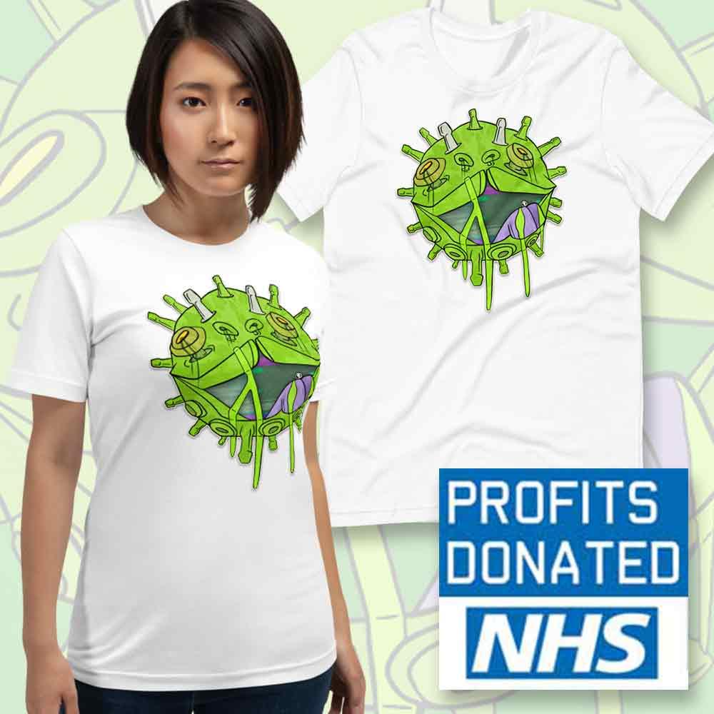 viral glitch t shirt charity NHS donation