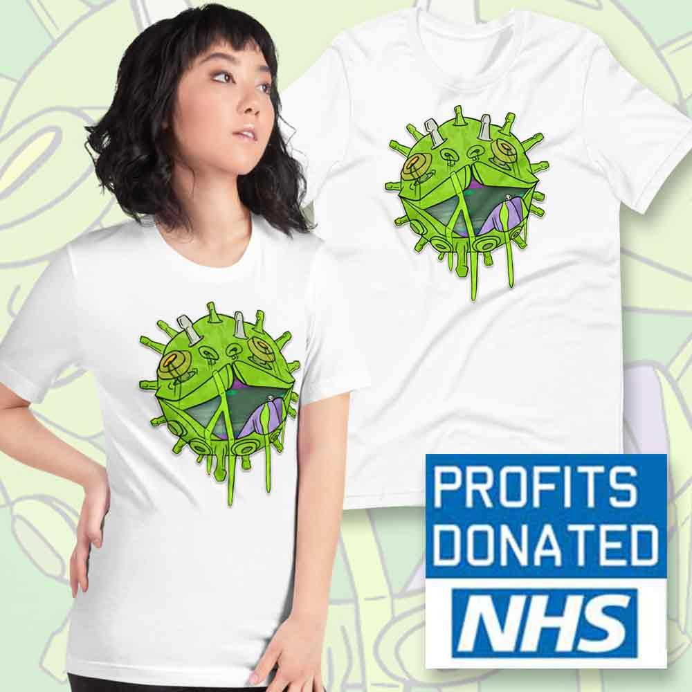 glitch virus t-shirt