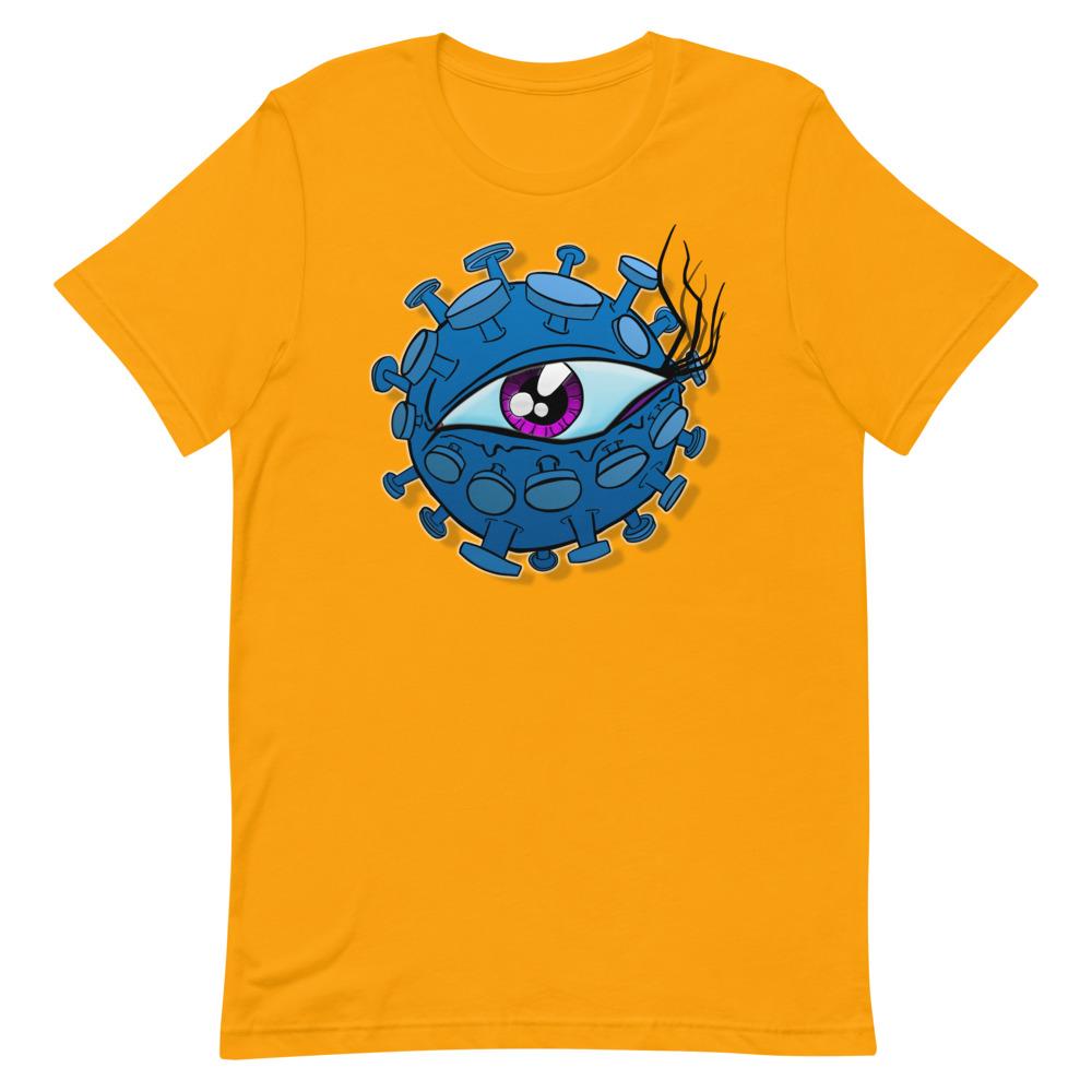 yellow viral eyeball coronavirus inspired T-shirt