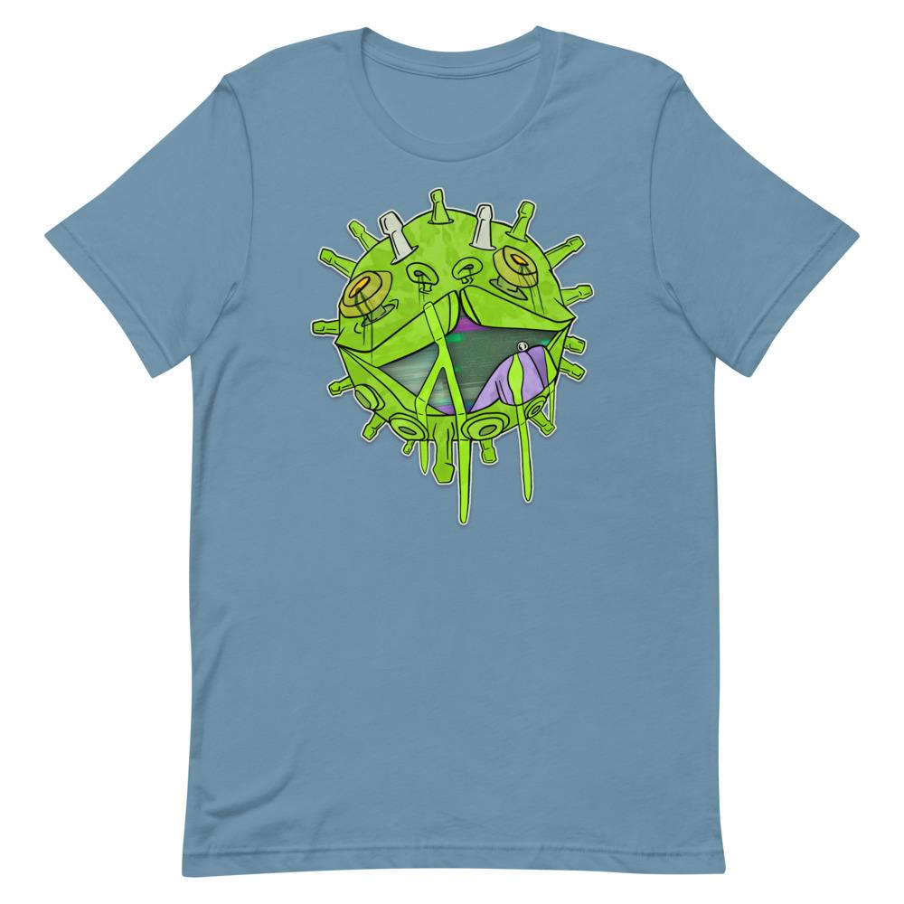 Covid puppy light blue coronavirus inspired T-shirt