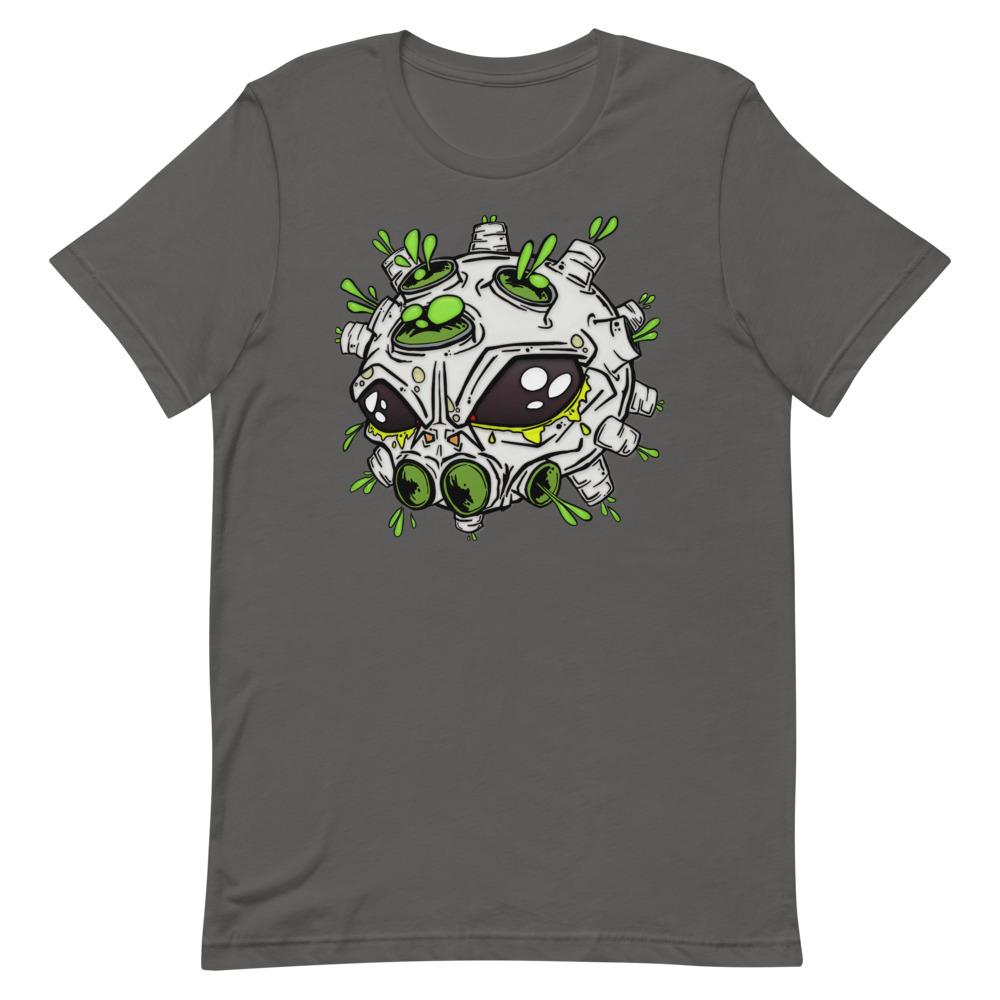 alien virus grey covid-19 inspired T-shirt
