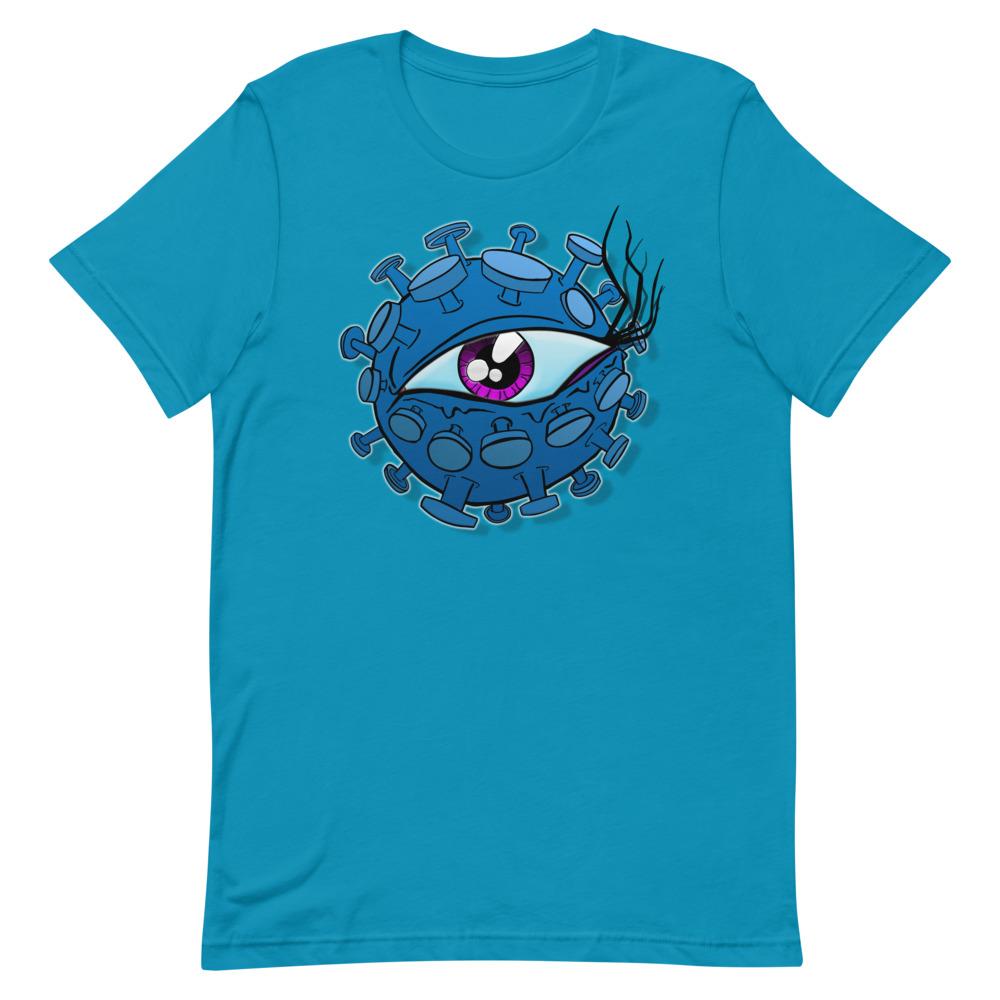 blue viral eyeball coronavirus inspired T-shirt