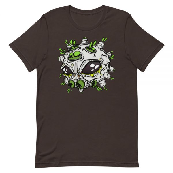 alien virus dark brown covid-19 inspired T-shirt