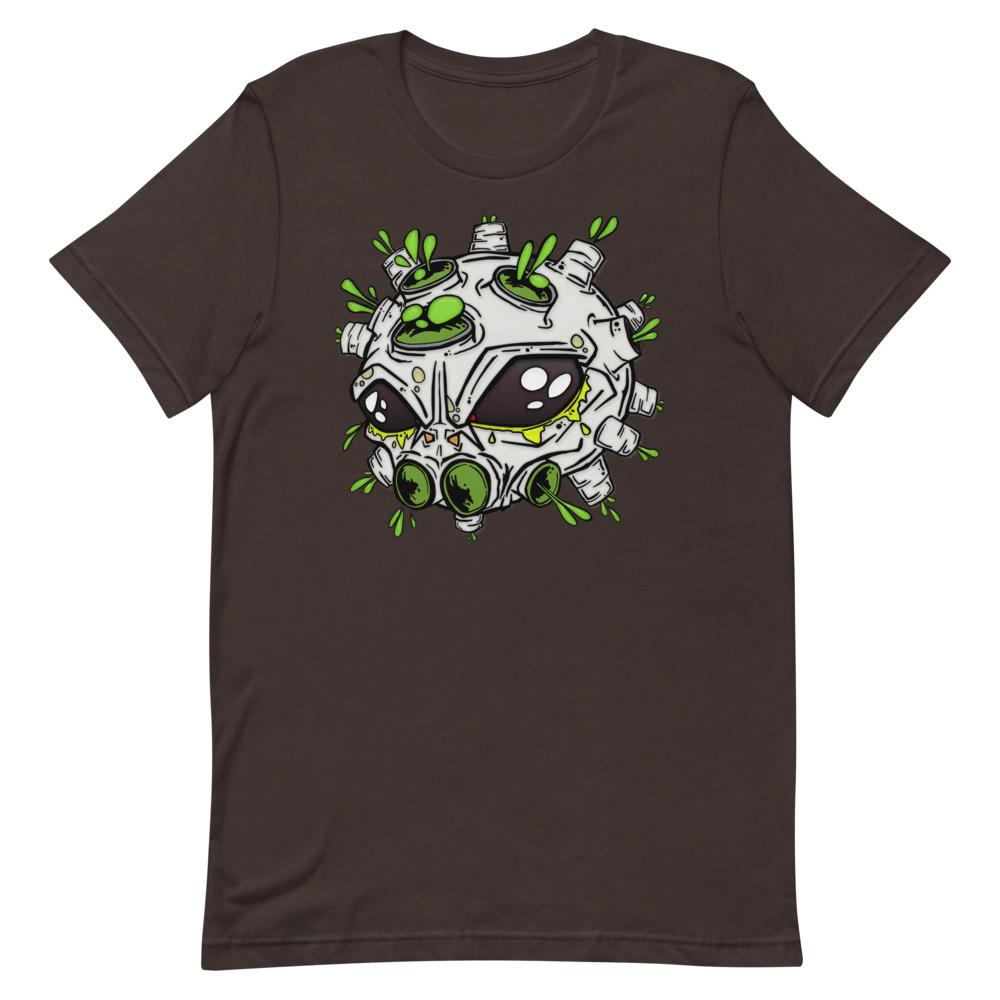 alien virus dark brown covid-19 inspired T-shirt
