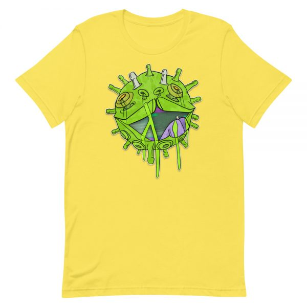 Covid puppy yellow coronavirus inspired T-shirt