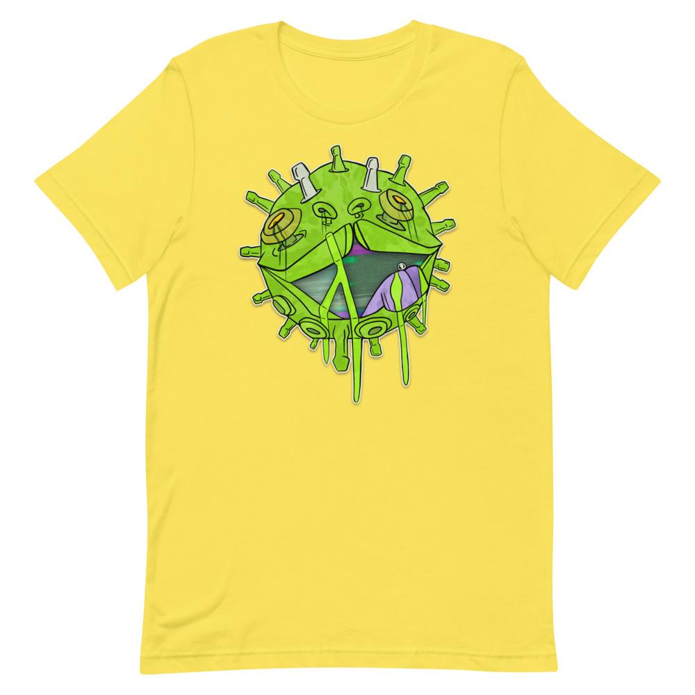 Covid puppy yellow coronavirus inspired T-shirt