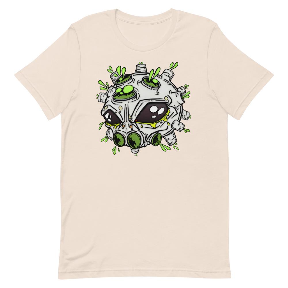 alien virus peach covid-19 inspired T-shirt