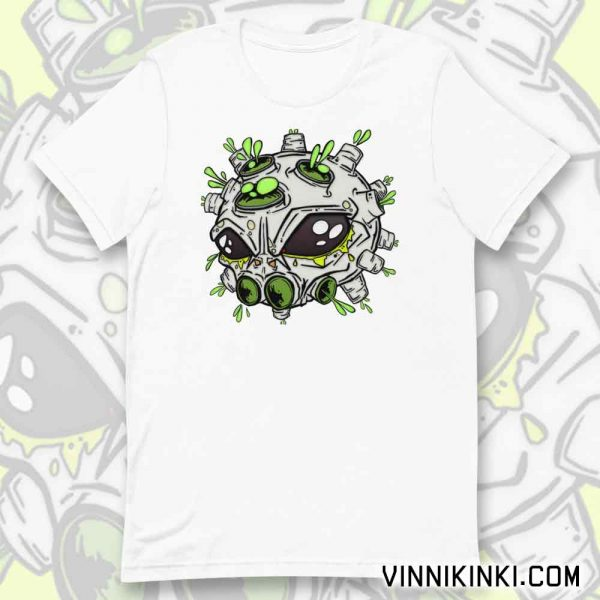 Alien virus t-shirt by Vinni Kiniki