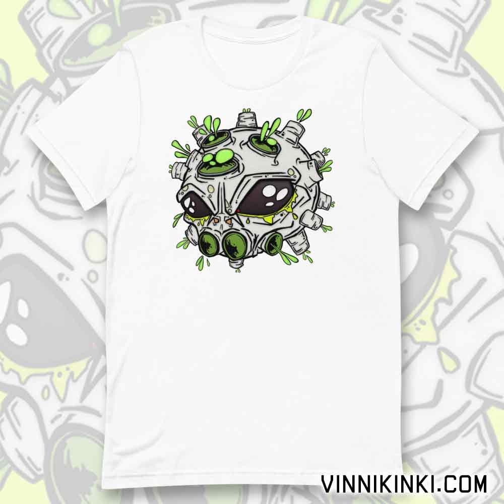 Alien virus t-shirt by Vinni Kiniki