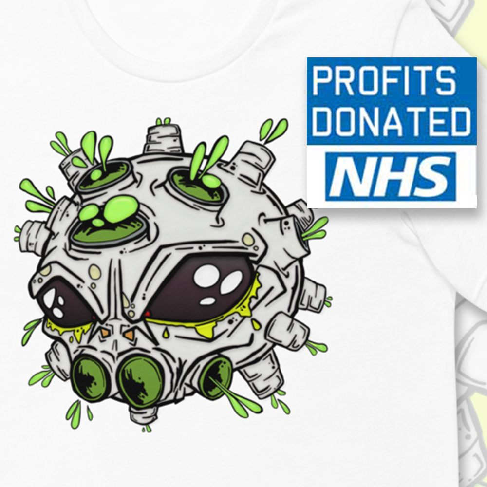 coronavirus inspired Alien virus t-shirt