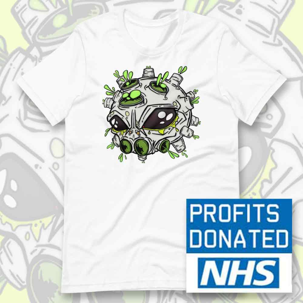 alien virus t-shirt NHS charity donation