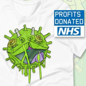 Covid puppy coronavirus inspired T-shirt NHS charity donation
