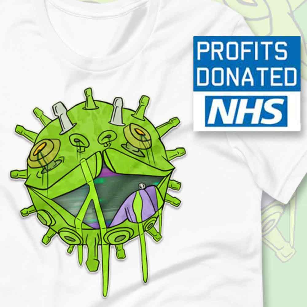 Covid puppy coronavirus inspired T-shirt NHS charity donation