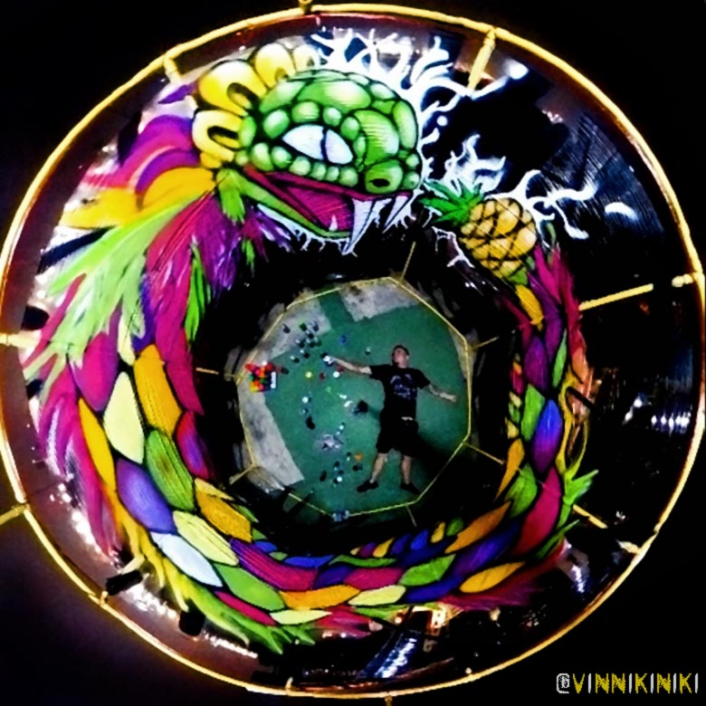 ouroboros 360 graffiti art concept
