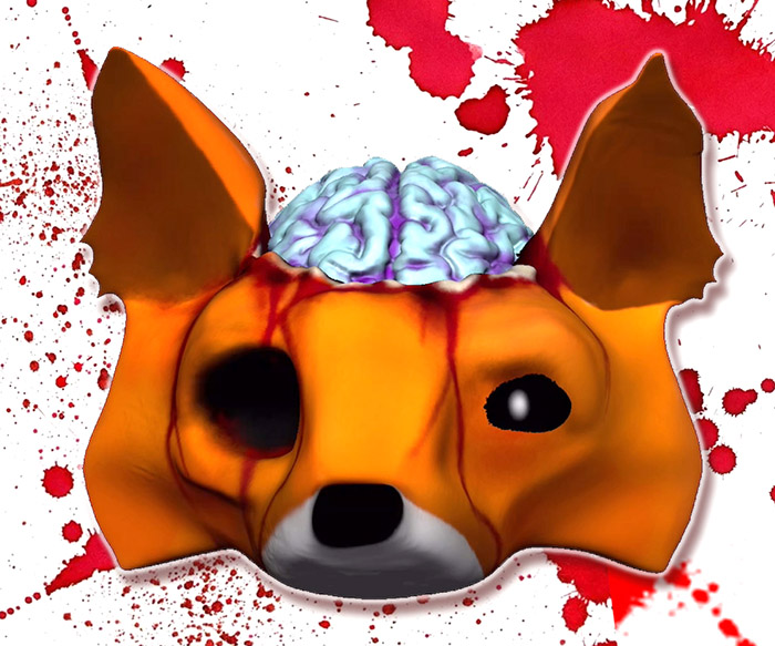 Undead Metamask Zombie Fox 3D NFT art by Vinni Kiniki